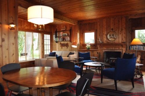 Michigan Cottage living and dining area