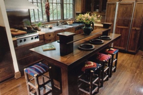 Historic Preservation kitchen with island